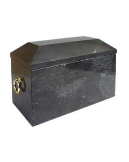 Stone Black Funeral Urn for Ashes