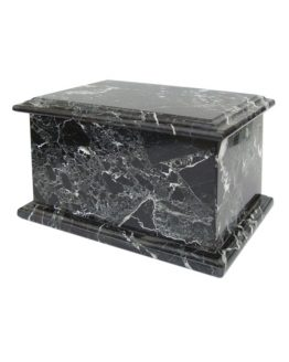 Stone Cremation Casket for Ashes in Black