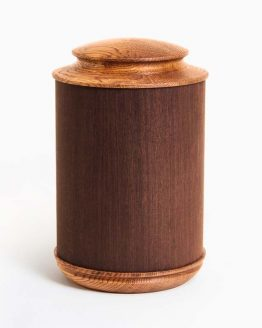 Round Shaped Wooden Funeral Urn for Ashes