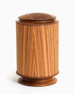 Round Shaped Wooden Cremation Urn for Ashes