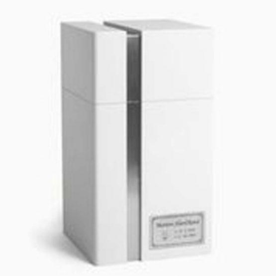 Modern Design Cremation Urn for Ashes Lines Black