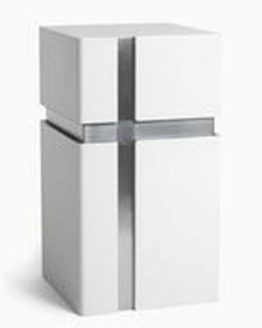 Modern Design Urn for Ashes Cross White