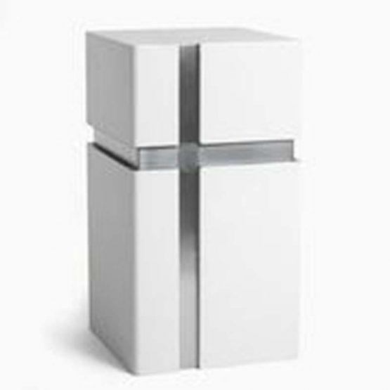 Modern Design Urn for Ashes Cross White
