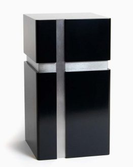 Modern Design Urn for Ashes Cross Black