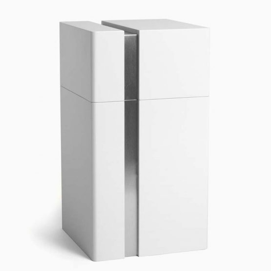 Modern Design Cremation Urn for Ashes Lines White
