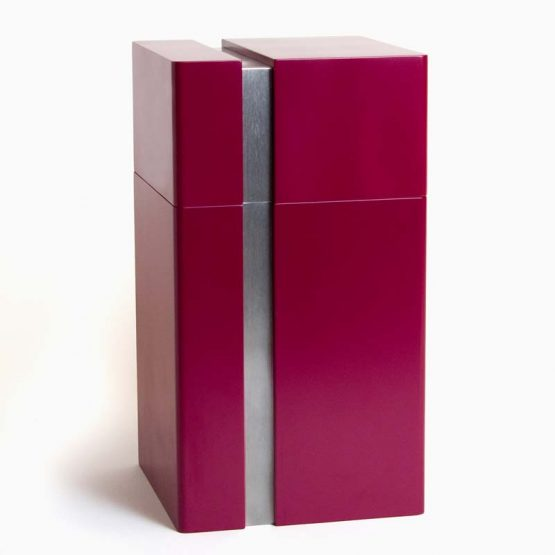 Modern Design Cremation Urn for Ashes Fuschia
