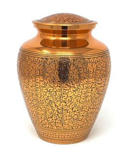 Brass Cremation Urn for Ashes Gold Vase