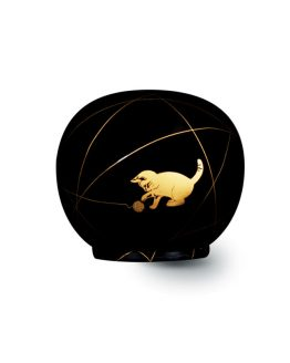 Cat Cremation Urn for Ashes Black