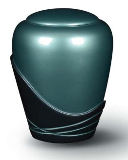 Cremation Urn for Ashes Fibreglass Glossy Blue