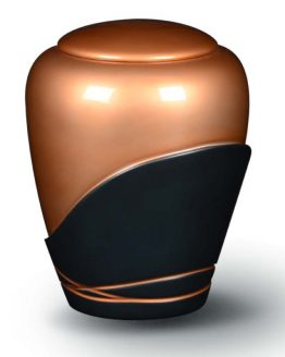 Cremation Urn for Ashes Fibreglass Glossy Copper