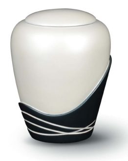 Cremation Urn for Ashes Fibreglass Glossy White