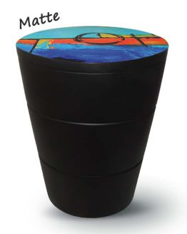 Black Fibreglass Cremation Urn for Ashes Blue