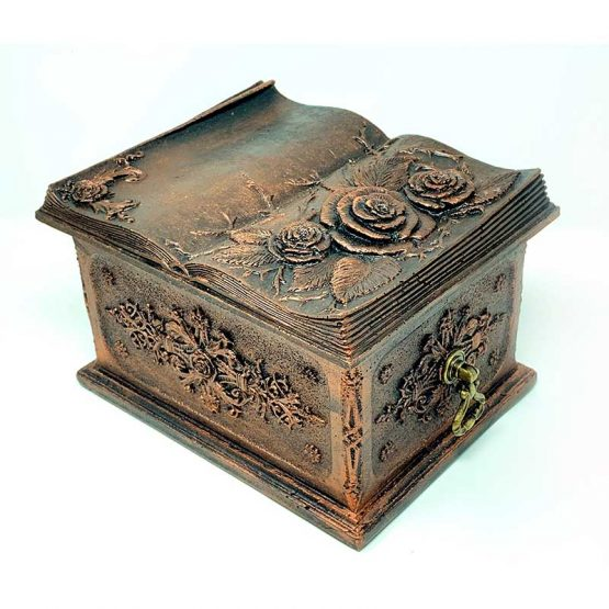 Carved Flowers Funeral Casket Copper