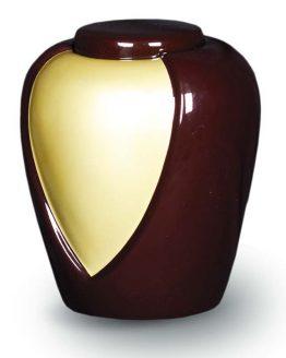 Fibreglass Cremation Ashes Urn Memorial Brown Cream
