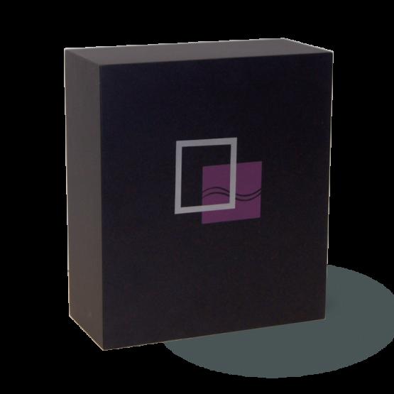 Modern Fibreglass Urn For Ashes Squares Black