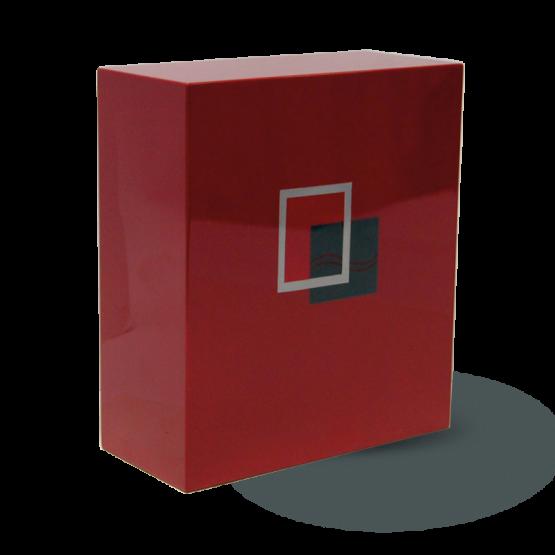 Modern Fibreglass Urn For Ashes Squares Red