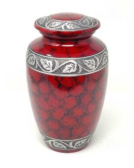 Fire Red Metal Cremation Classic Vase