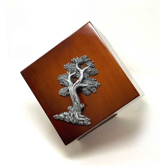 Modern Cremation Urn for Ashes Tree of Life Walnut