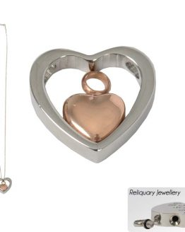 Heart Cremation Ashes Pendant Gold