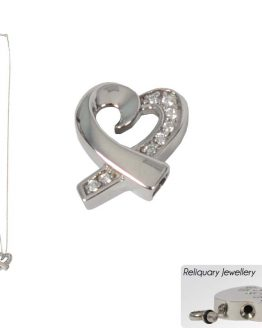 Metal Cremation Pendant Ashes Heart