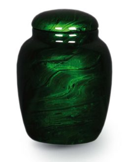 Resin Cremation Urn for Ashes Green