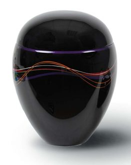 Black Cremation Urn for Ashes Resin Purple
