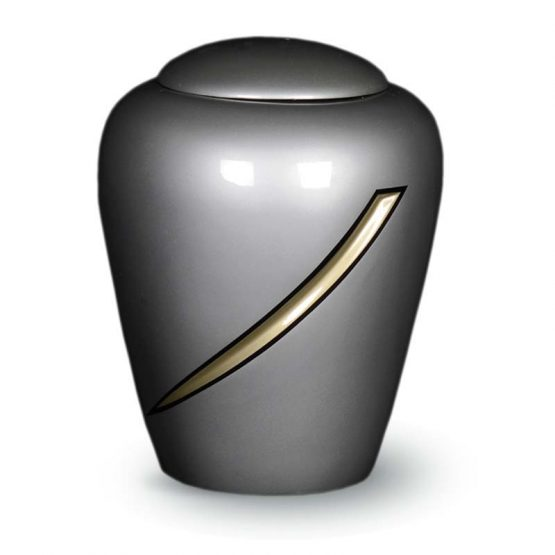 Fibreglass Cremation Urn for Ashes Silver