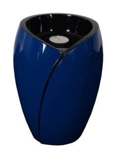 Fibreglass Cremation Ashes Urn Candle Blue