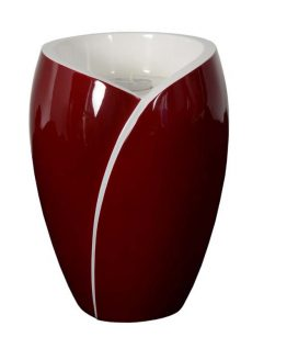 Fibreglass Cremation Ashes Urn Candle Red