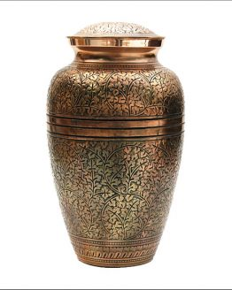 Brass Cremation Ashes Urn Gold Vase