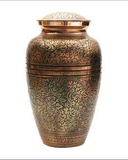 Brass Cremation Ashes Urn Gold Vase