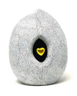 Ceramic Cremation Urn Heart in a Shell Stone