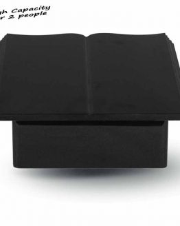 Outdoor Granite Cremation Adult Urn Open Book