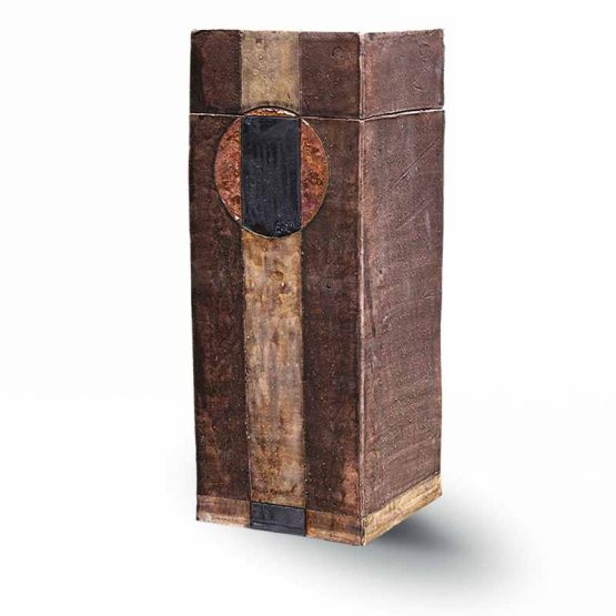 Ceramic Urn For Ashes Oblong Brown