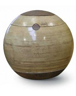Unique Ceramic Cremation Urn For Ashes Sfera Brown