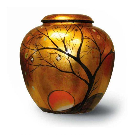 Ceramic Cremation Urn Adult Hand-painted Sunset