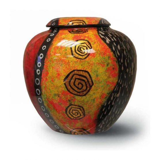 Ceramic Cremation Urn Adult Hand-painted Roses