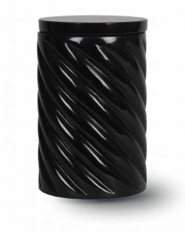 Granite Cremation Urn Adult Rope Black