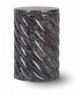 Granite Cremation Urn Adult Rope Mass Blue