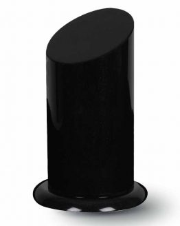 Granite Cremation Ashes Urn Adult Column Black