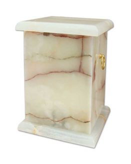 Stone Cremation Casket with Handles Memorial Urn