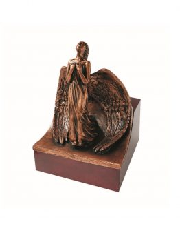 Angel Cremation Urn For Ashes Large Decor Copper
