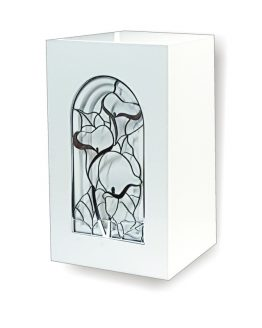 Exclusive Cathedral Window Cremation Urn Lily White