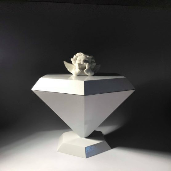 Diamond Cremation Urn for Ashes with Angel for Children