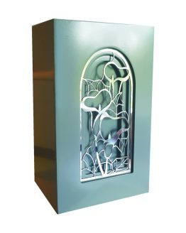 Exclusive Cathedral Window Cremation Urn Lily Grey