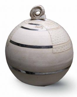 Modern Round Ceramic Urn For Ashes White