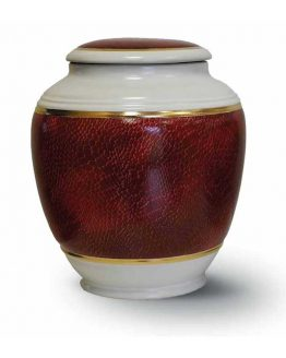 Classic Ceramic Vase for Ashes Red