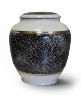 Classic Ceramic Vase for Ashes Grey