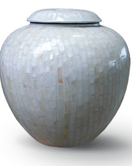 Cremation Vase for Ashes painted Mosaic light