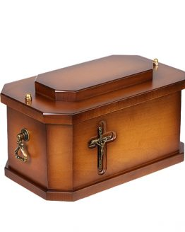 Solid Wooden Cremation Ashes Casket Cross